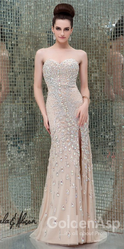 Ivory beaded formal gown · thedarkqueen · online store powered by storenvy