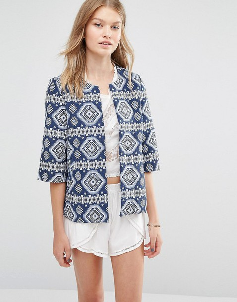 jacket clothes asos blazer outerwear printed jacket
