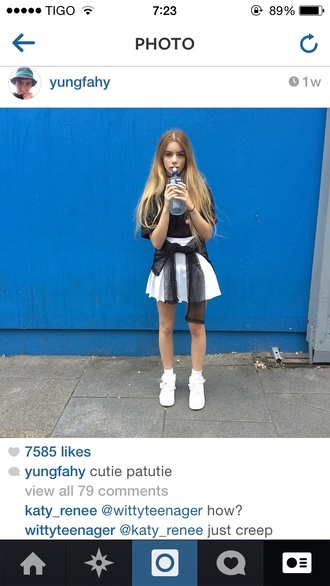 shoes joanna kuchta top skirt photography instagram girly prada chanel blondie winter outfits fall outfits