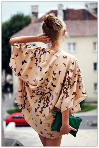 boho top kimono butterfly jacket