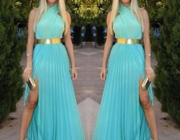 Fashion cute chiffon dress with bel..