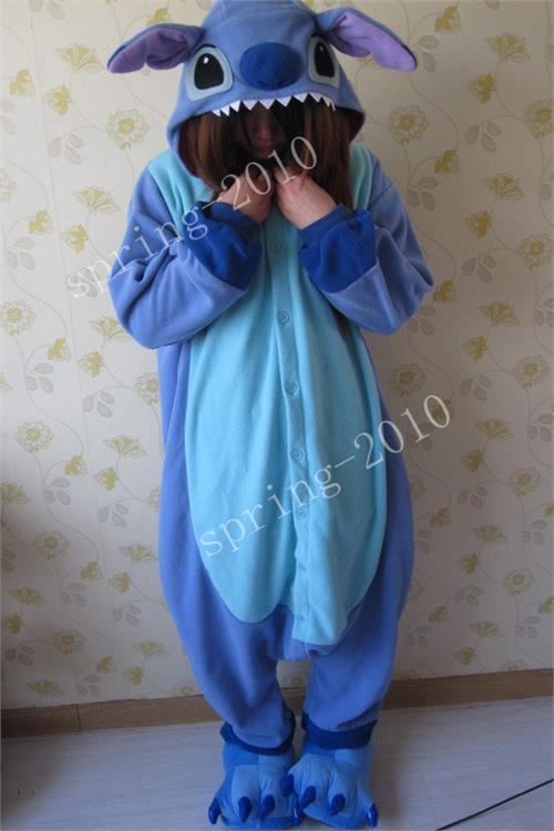 Adult Anime KIGURUMI Pajamas Costume Cosplay Pyjamas Blue Pink Unisex Stitch | eBay