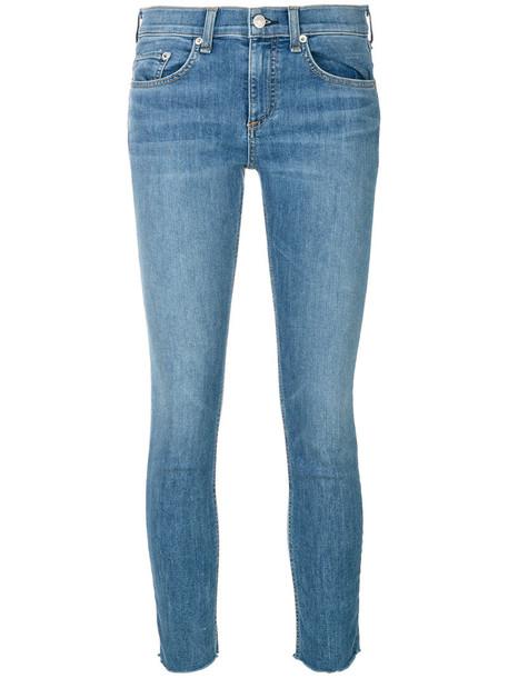 Rag & Bone /Jean jeans skinny jeans cropped women cotton blue