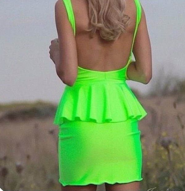 dress green dress colors fluro neon