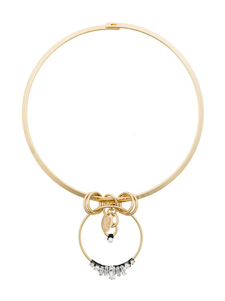 RADÀ women embellished necklace silk grey metallic jewels