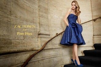 dress five plus blue dress evening dress zac posen gown