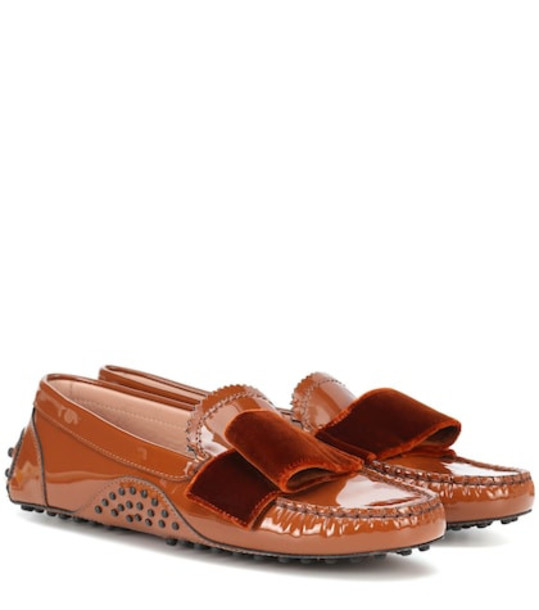 Tod's X Alessandro Dell'Acqua patent leather loafers in brown