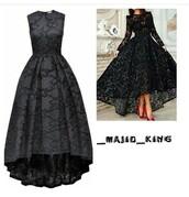 dress,black,lace,material,pattern,tumblr,long sleeves,black dress,lace dress,long sleeve dress