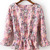 Pink Long Sleeve Ruffle Floral Blouse - Sheinside.com