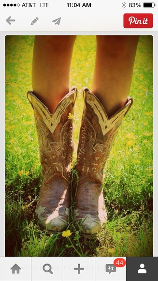 distressed shoes cowboy boots boots worn southern cowgirl boots white brown