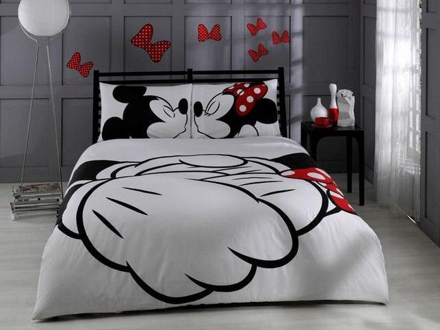 Disney Mickey Mouse Minnie Duvet Cover Fitted Sheet Pillow Case | eBay