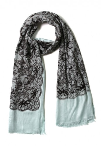 Floral Lace Print Scarf - Retro, Indie and Unique Fashion