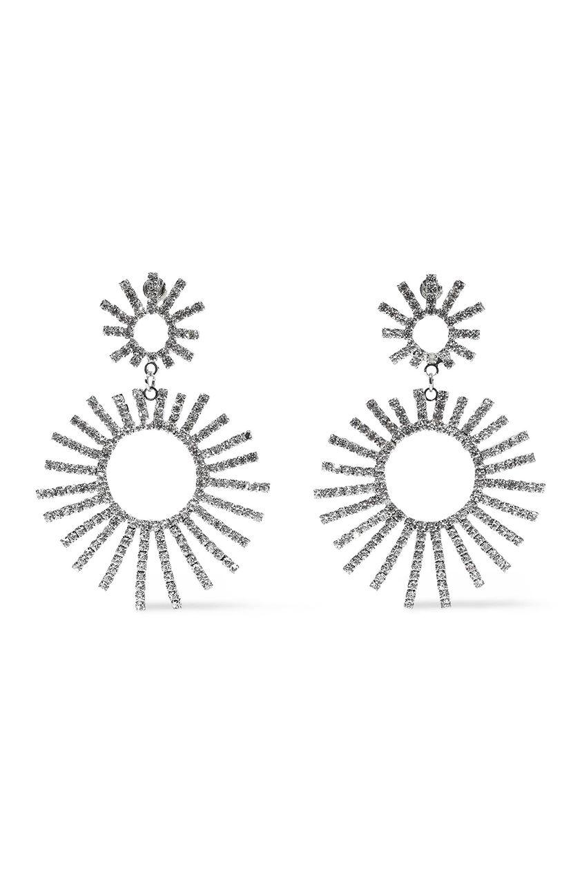 Kenneth Jay Lane Woman Silver-tone Crystal Earrings Silver Size --
