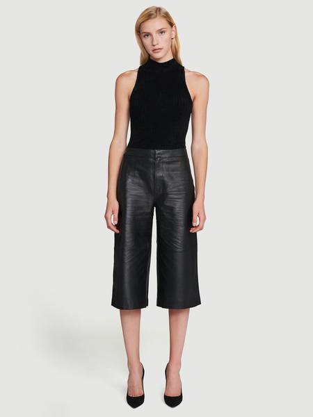 Leather Culotte Noir