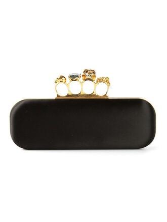 long women clutch black bag