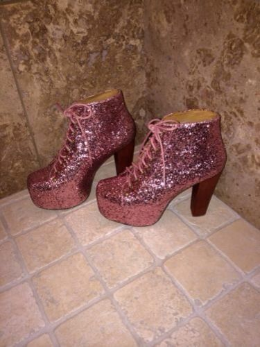 Never Worn Sold Out Jeffrey Campbell Glitter Lita Size 9 | eBay
