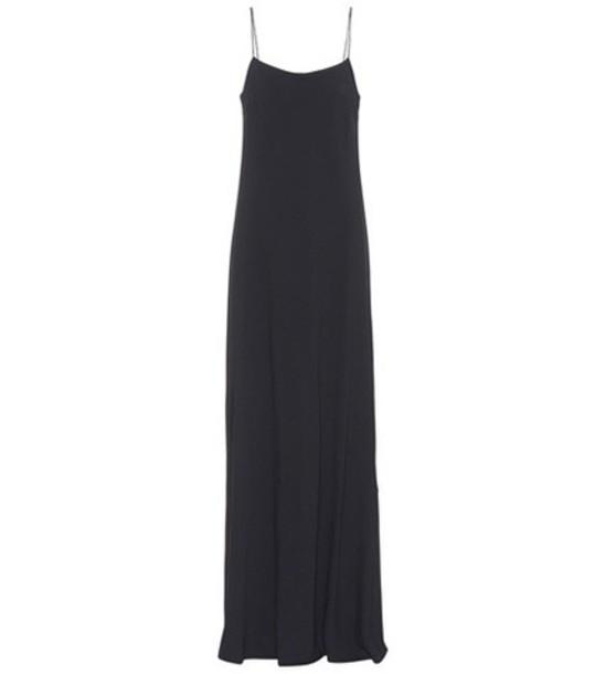 The Row Ebbins sleeveless crêpe dress in black