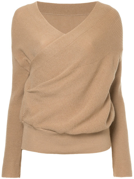 jumper women nude wool sweater