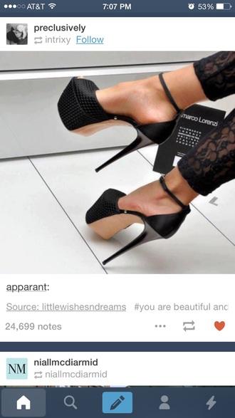 shoes black heels platform pumps