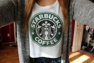 shirt top tank top t-shirt style fashion starbucks coffee starbuckstop tanktop logo love like