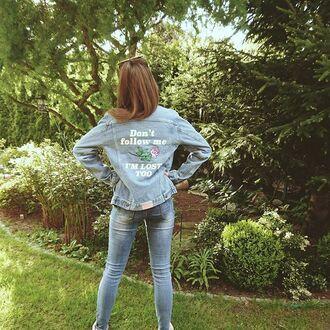 jacket yeah bunny denim rose oversized tumblr girl 36683 denim jacket