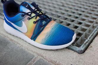 shoes snikers sniker nike nike running shoes nike roshe run nike sneakers nike air fashion sportswear sports shoes blue white black