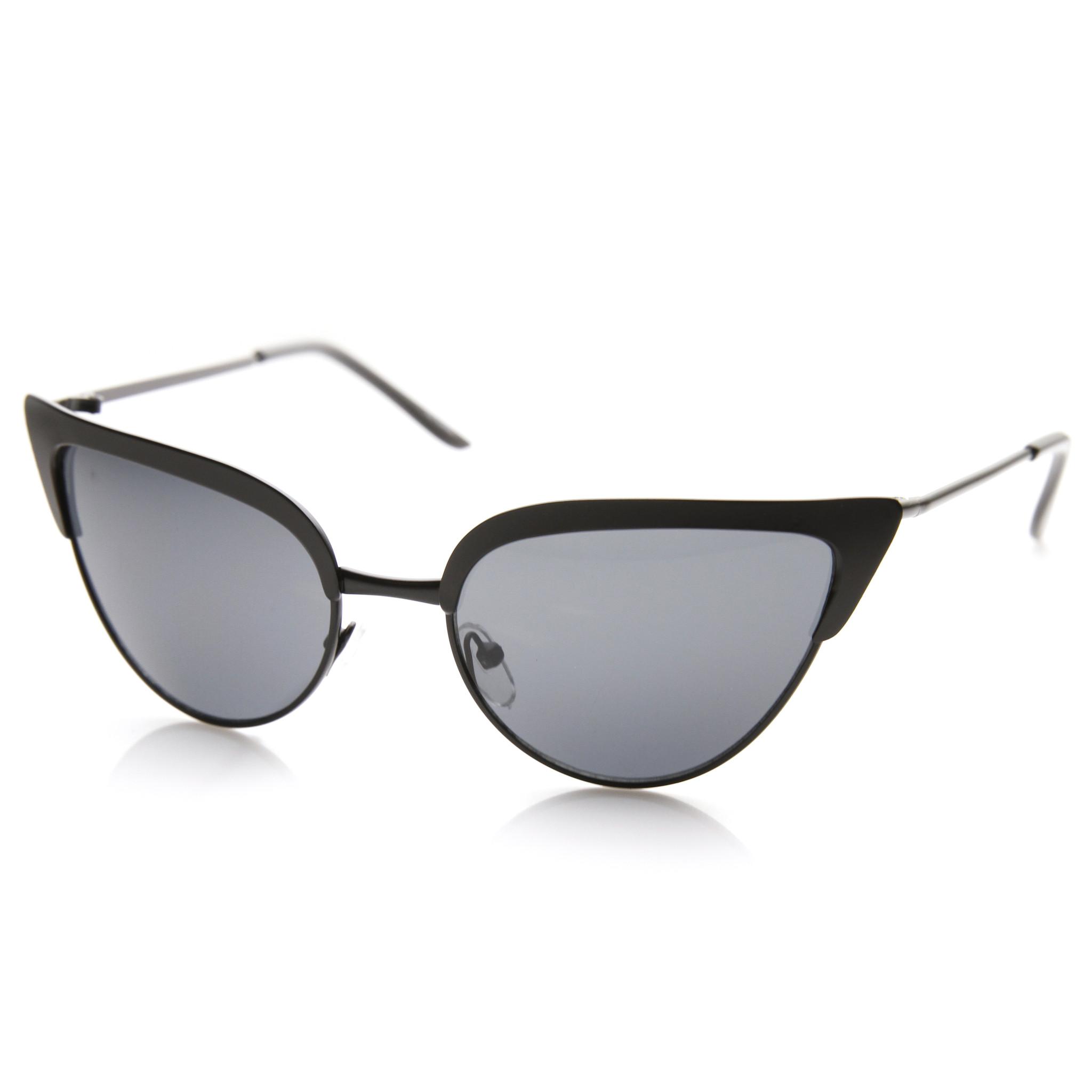 Elegant laser cut womens modern cat eye fashion sunglasses 9464