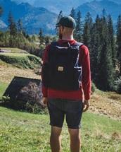 bag,black backpack,backpack,roll top backpack,rucksack,sac a dos,travel,travel backpack,men's backpack,men's accessories,accessories