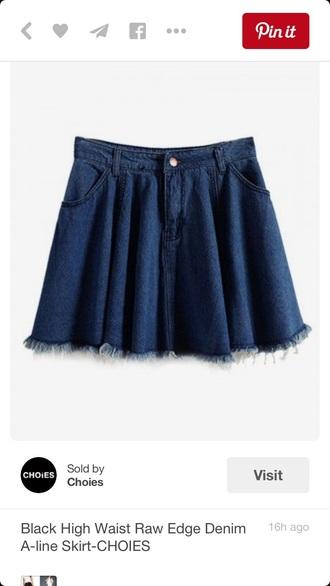 skirt denim skirt skater skirt mini skirt high waisted skirt