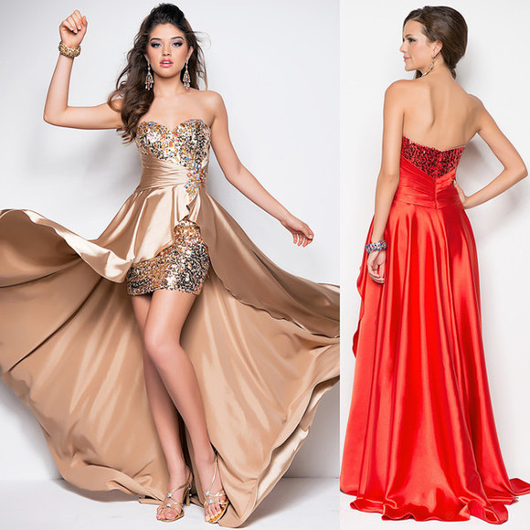 prom dress bustier dress party dress prom dress high low