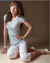 shirt,stripes,short sleeved