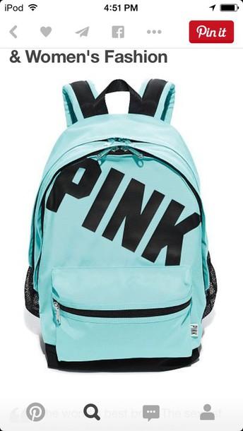 bag teal backpack pink by victorias secret victoria's secret pink