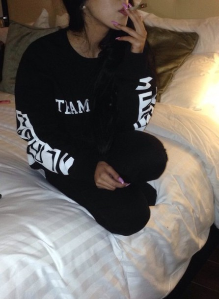 shirt black white hotel joint long sleeves