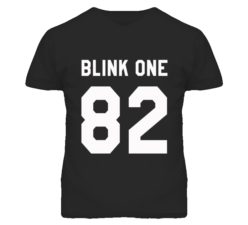 Blink one 82 popular band jersey style t shirt