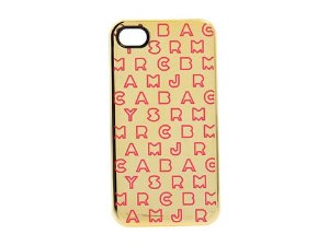 Amazon.com: marc by marc jacobs dreamy metallic trimmed case for iphone 4/4s, gold multi: cell phones & accessories