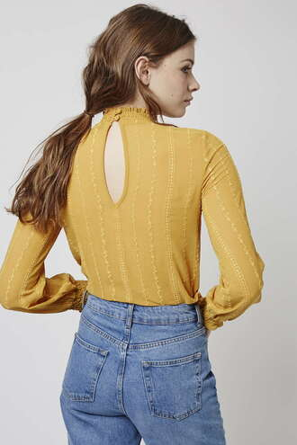 blouse yellow buttercup spring topshop