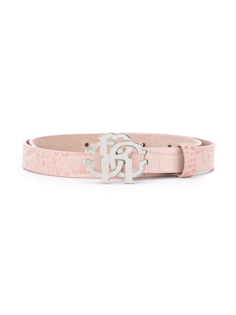 fca472ca71bb GUCCI GG-logo 2cm leather belt in pink - Wheretoget