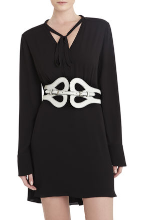 Butterfly-Front Buckle Belt | BCBG