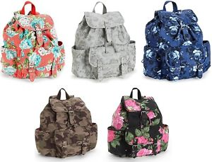 Aeropostale Backpack School Book Gym Shoulder Bag Handbag Canvas Camo Floral | eBay