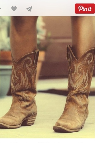 shoes western country style boots brown