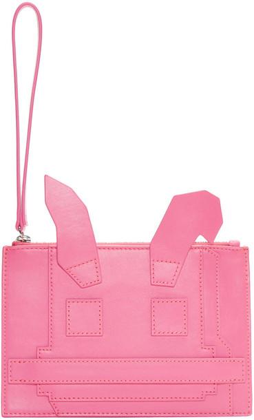 McQ Alexander McQueen bunny pouch pink bag