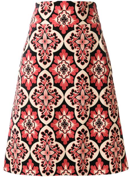 skirt vintage women cotton print black