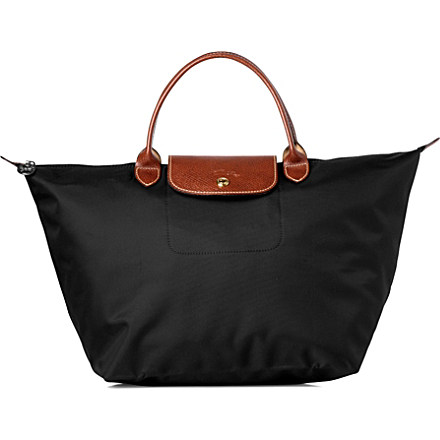 LONGCHAMP - Le Pliage medium handbag in black | Selfridges.com