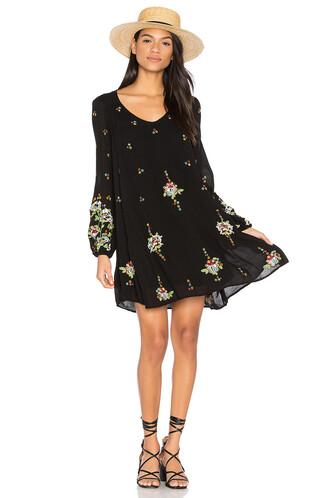 dress mini dress mini embroidered black