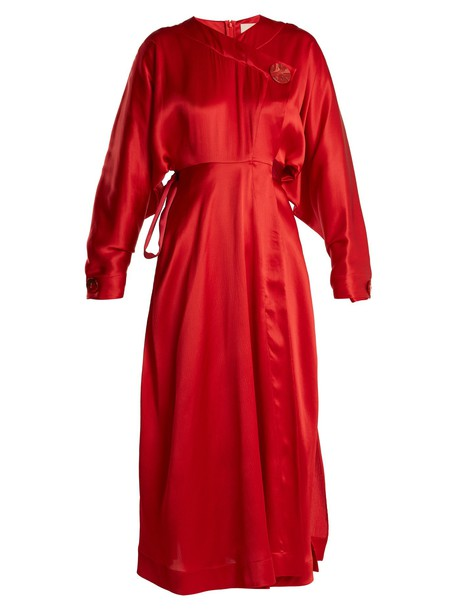 Roksanda dress silk dress silk red