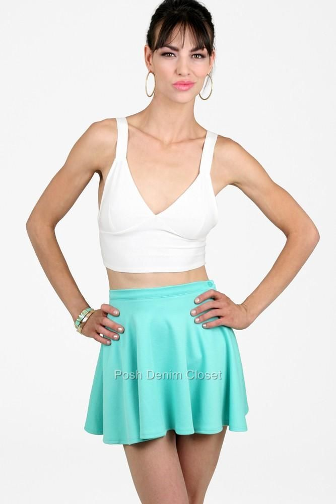 Jukebox Mint Circle Skater Skirt Mint S20MNT | eBay
