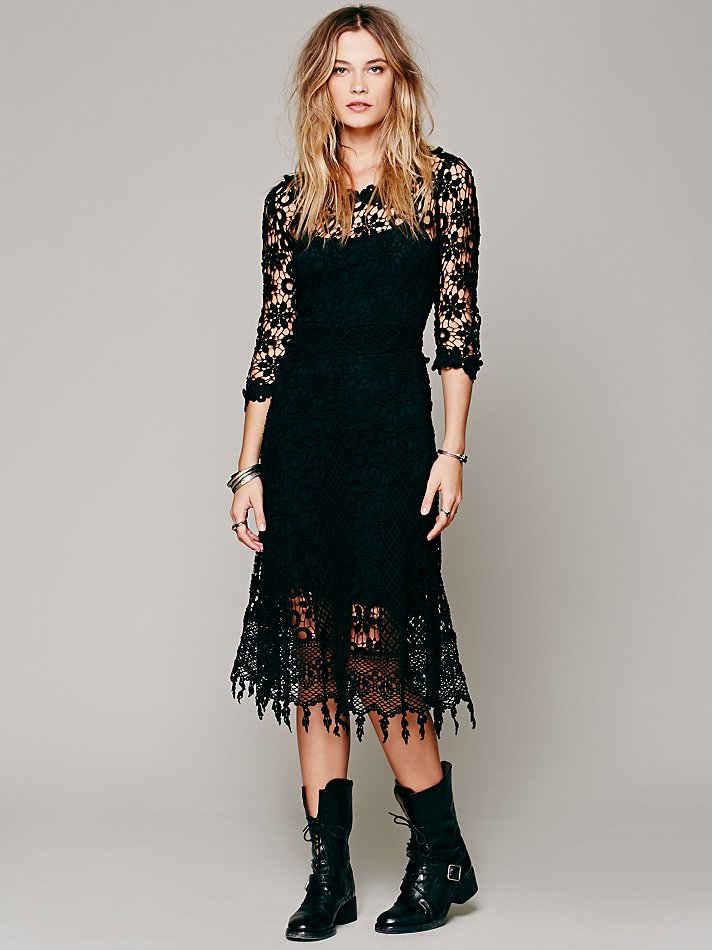 Free people daisy chemical lace dress