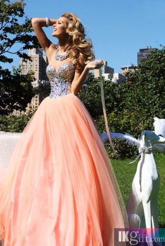 dress gown prom gown prom dress orange sequin dress sequin prom dress