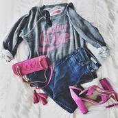 mint arrow,blogger,sweater,jeans,coat,shoes,sunglasses,bag,fall outfits,high heel sandals,pink heels,coca cola,pink bag