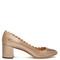 Lauren scallop-edged leather pumps